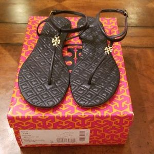 Tory Burch Marion Sandals Bright Navy